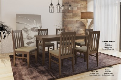 Conjunto de Mesa e Cadeira Mine